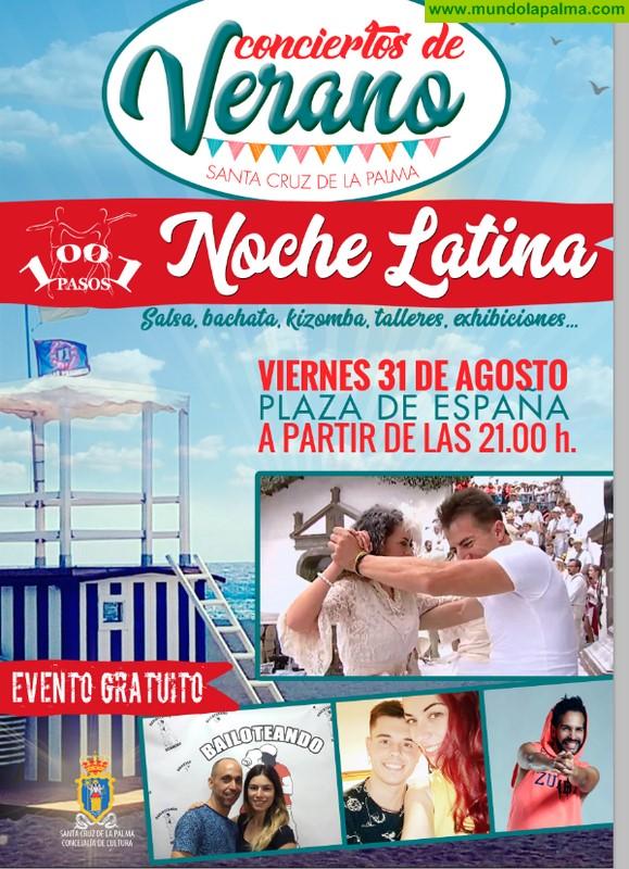 El Ayuntamiento de Santa Cruz de La Palma  organiza la primera la Noche Latina con exhibición y talleres de baile