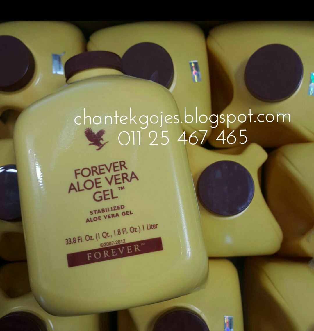 chantekgojes aloevera gel forever detox secara alami