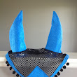 HORSE EAR BONNET - ELECTRIC BLUE