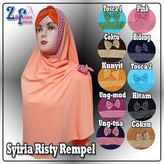 jual murah jilbab syiria risty rempel bahan jersey