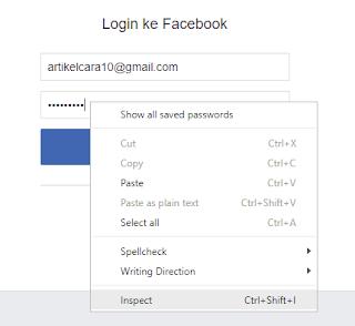 Cara Bobol Akun Sosial Media Facebook Gmail Twitter menggunakan Inspect Element