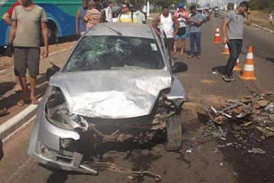Resultado de imagem para Cinco pessoas ficam feridas em acidente de trânsito na RN-160