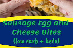 Sausage Egg and Cheese Bites (low carb + keto)