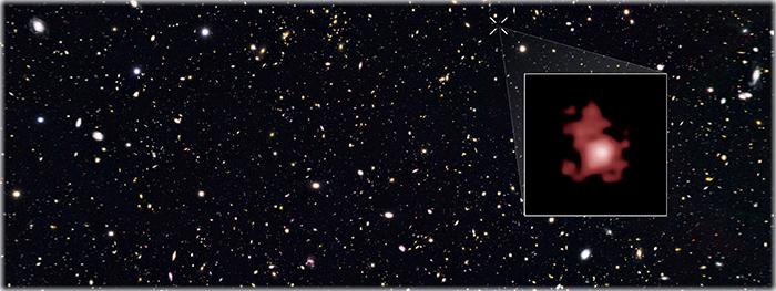 galáxia gn-z11 - a galáxia mais distante e mais antiga do universo