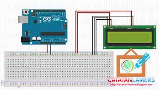 Menampilkan Teks ke LCD 16x2 Menggunakan Arduino Uno R3