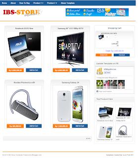 Template Toko Online Blog Gratis dengan Invoice Email