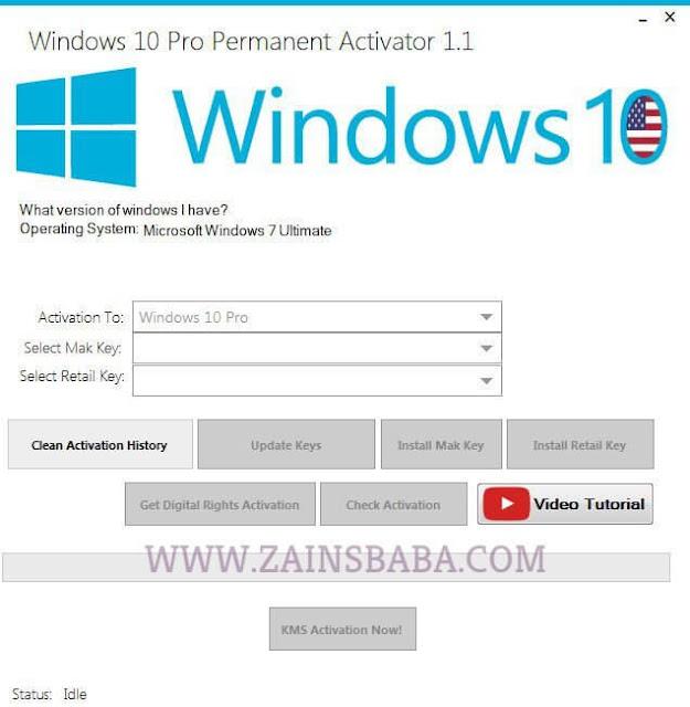 Windows 10 Pro Permanent Activator Ultimate 2017 v1.9 | ZainsBaba.com