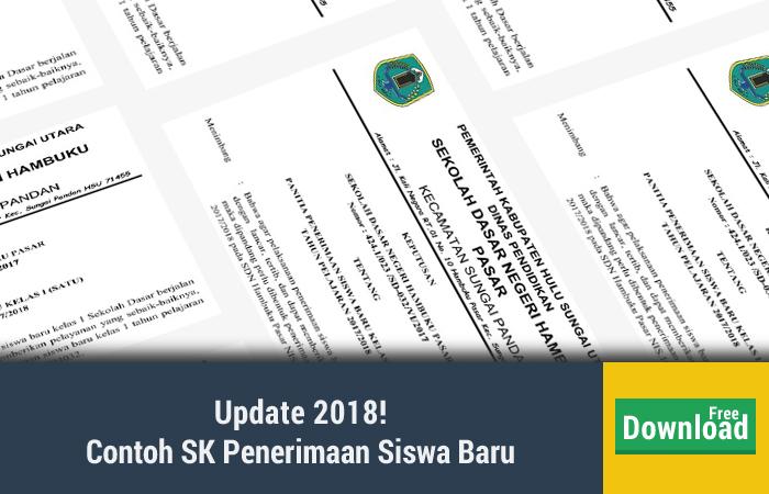 Contoh SK Penerimaan Siswa Baru