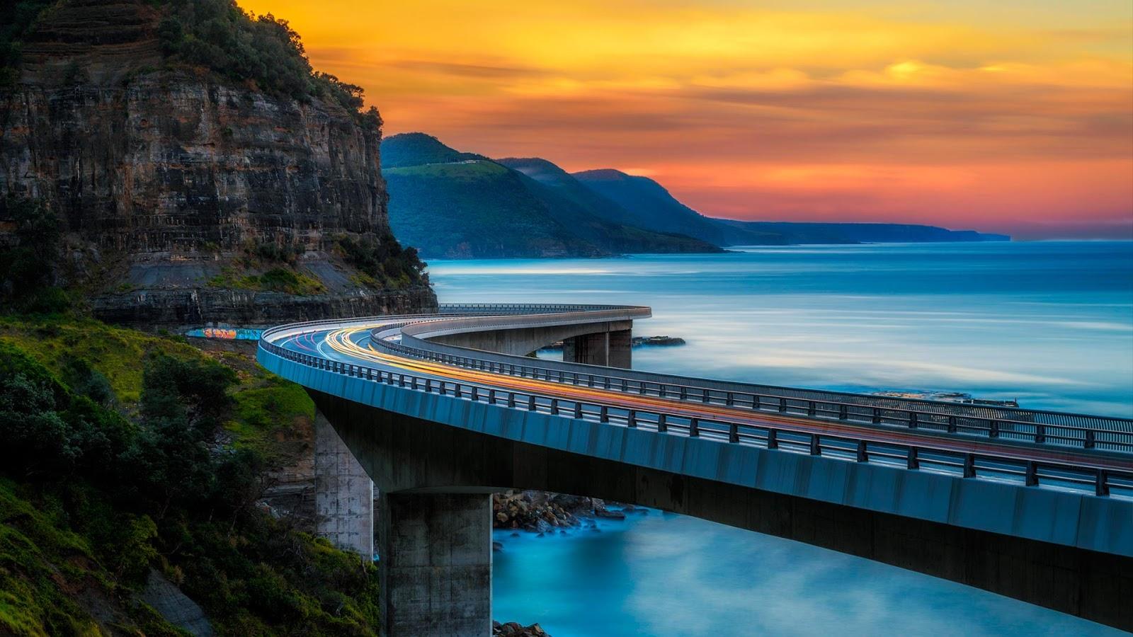 wollongong sea cliff bridge Sea Cliff Bridge, near Sydney, Australia © Nick Fox/Alamy