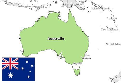 peta australia dan profil