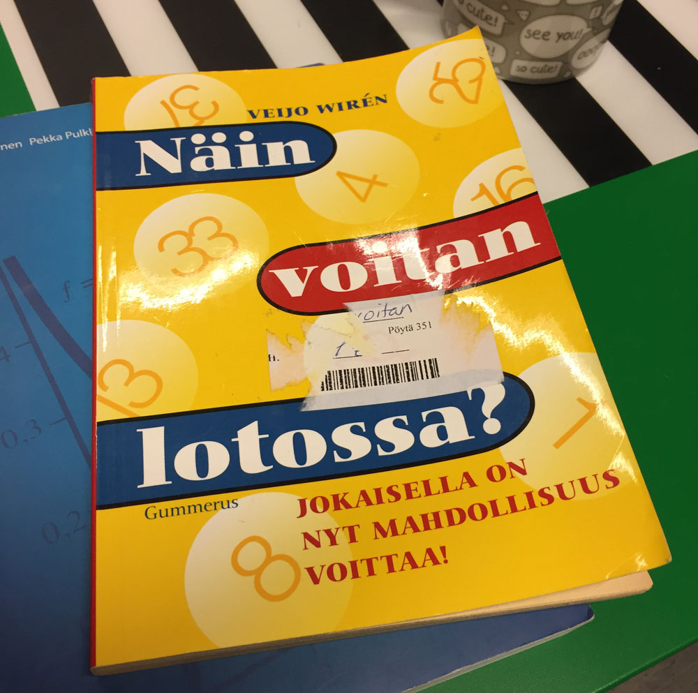 Veijo Wirénin kirja Näin voitan lotossa? Jokaisella on nyt mahdollisuus voittaa!