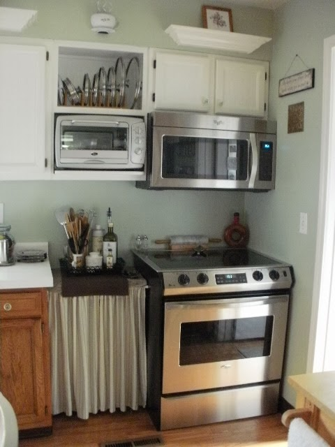 My Sparkling stainless steel stove and microwave