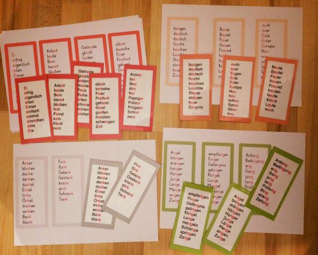 17. Türchen: Lernwörter Teil 4