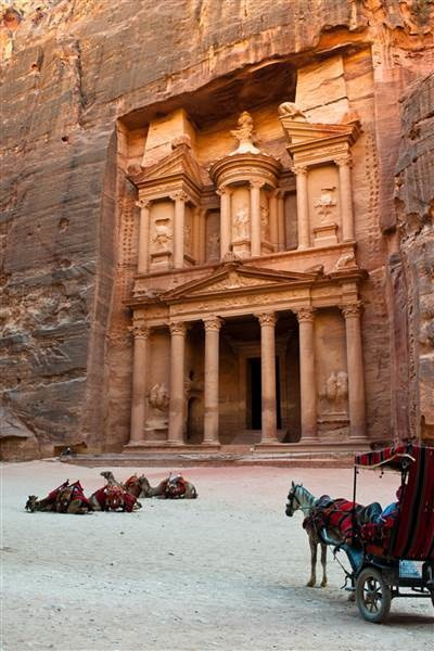 Petra, Jordan: The rose city felt exactly like Indiana Jones. - This Guy's Amazing Photo Album Will Fuel Your Wanderlust… By 0:24 I Wanted To Pack My Bags.