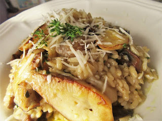 Perfect risotto with boletus mushrooms