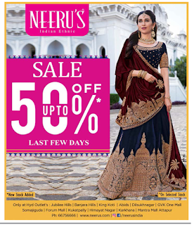 Neeru's amazing offers last few days| July 2017 50% off