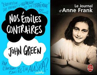 Nos étoiles contraires/ John Green / Le Journal d'Anne Frank