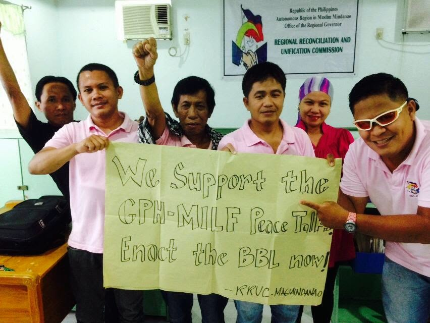 Supporting the GPH-MILF Peace Process... Enact the BBL into law now
