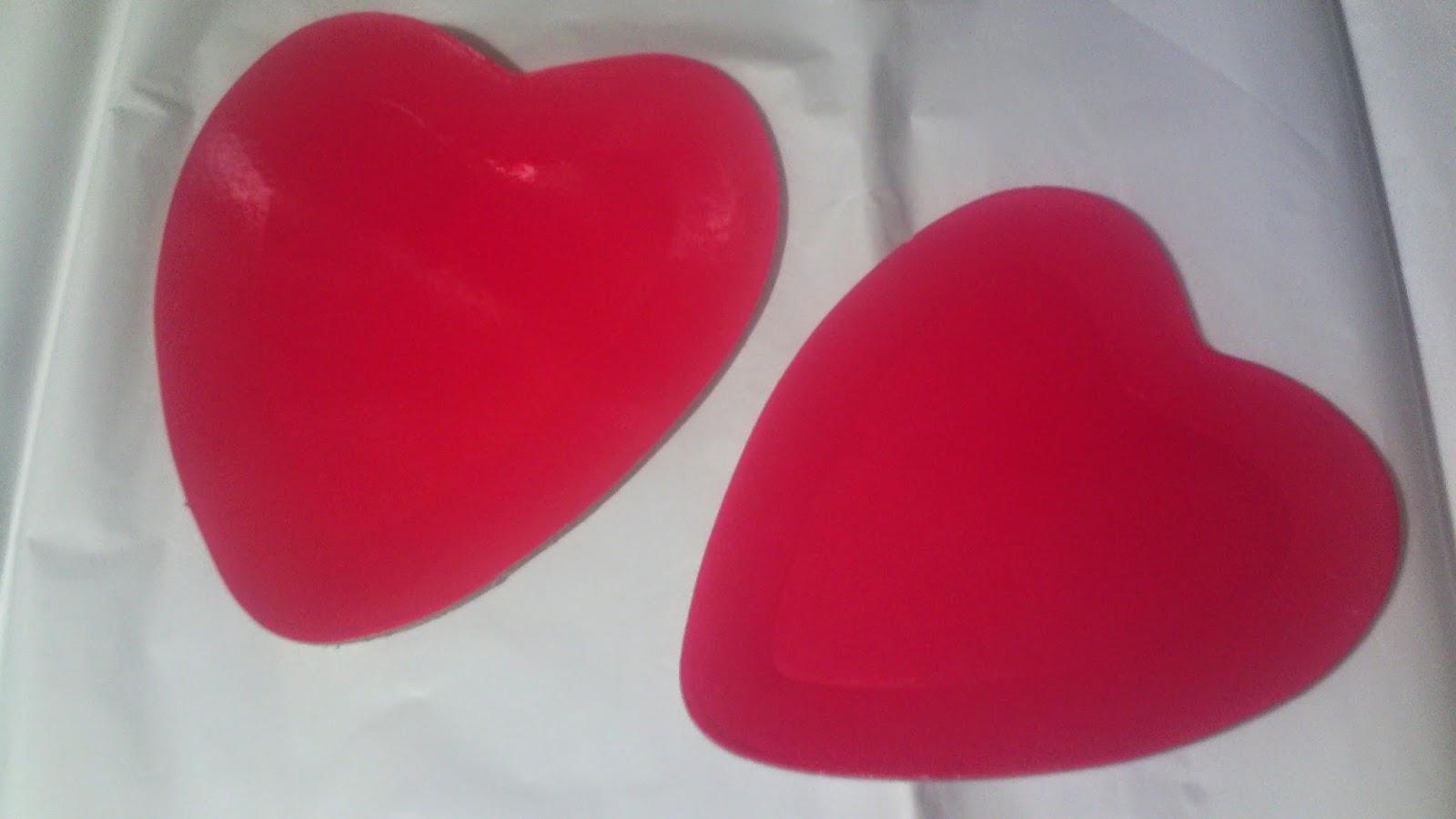 PLATO DE SAN VALENTIN (forma de corazón)
