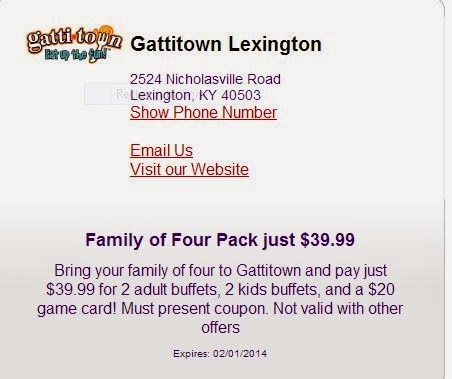graphic about Gatti Town Coupons Printable named Gatown printable coupon codes lexington ky : Minute hand automobile