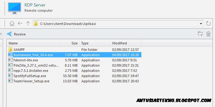 Cara Download File Dari RDP Ke Komputer Menggunakan Aplikasi