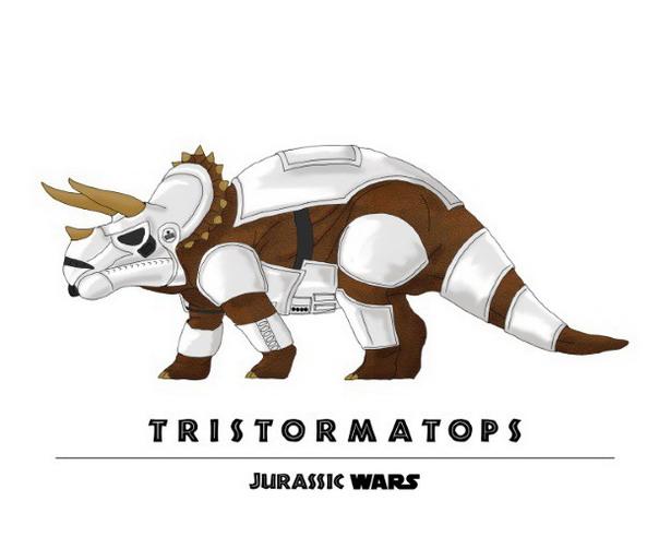 Stormtrooper + Triceratops = Tristormatops