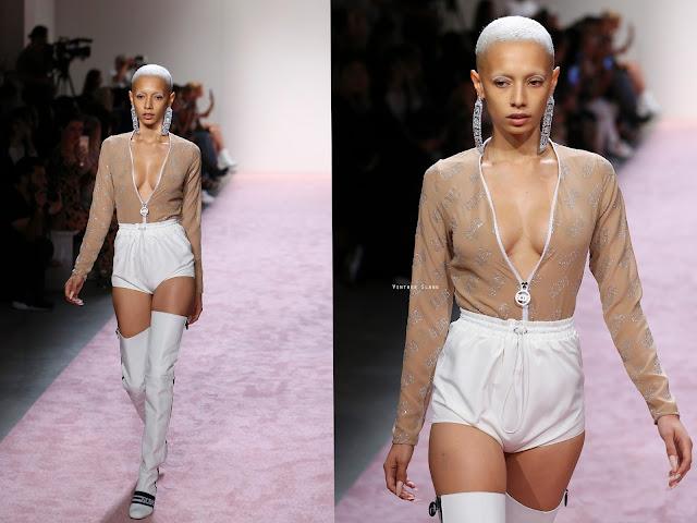 model Jazzelle Zanaughtti walking the runway for gcds