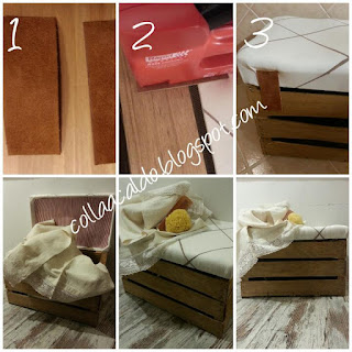 Riciclo creativo cassetta di legno cerniere baule fai da te