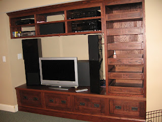 Custom Arts and Crafts Entertainment Center, Westchester, NY