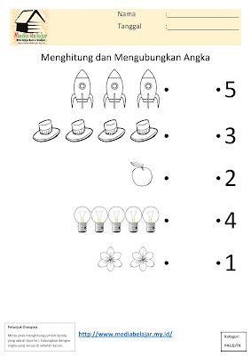 Menghitung dan Menghubungkan Angka Bagian 8