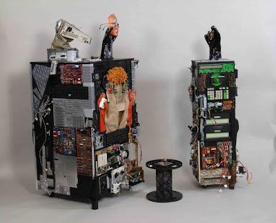 Arte y computadoras recicladas