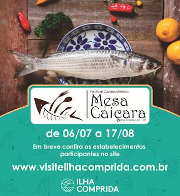"""Município abre inscrições para restaurantes e similares participarem do I Festival Gastronômico """"Mesa Caiçara"""""""