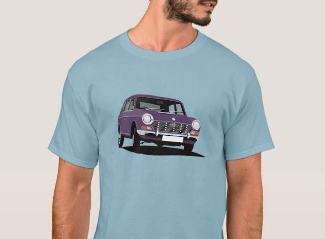 Austin 1800 - 2200 ado17 - violet - car t-shirt