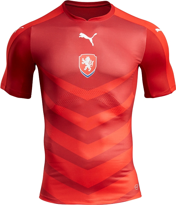 07152af9a31 The darker color is also used for the sleeves and the modern collar of the  new Czech Republic kit.