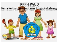 RPPH PAUD KURIKULUM 2013 Tema Keluargaku Subtema Anggota keluarga