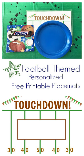 Football Themed Personalized Printable Placemats || The Chirping Moms