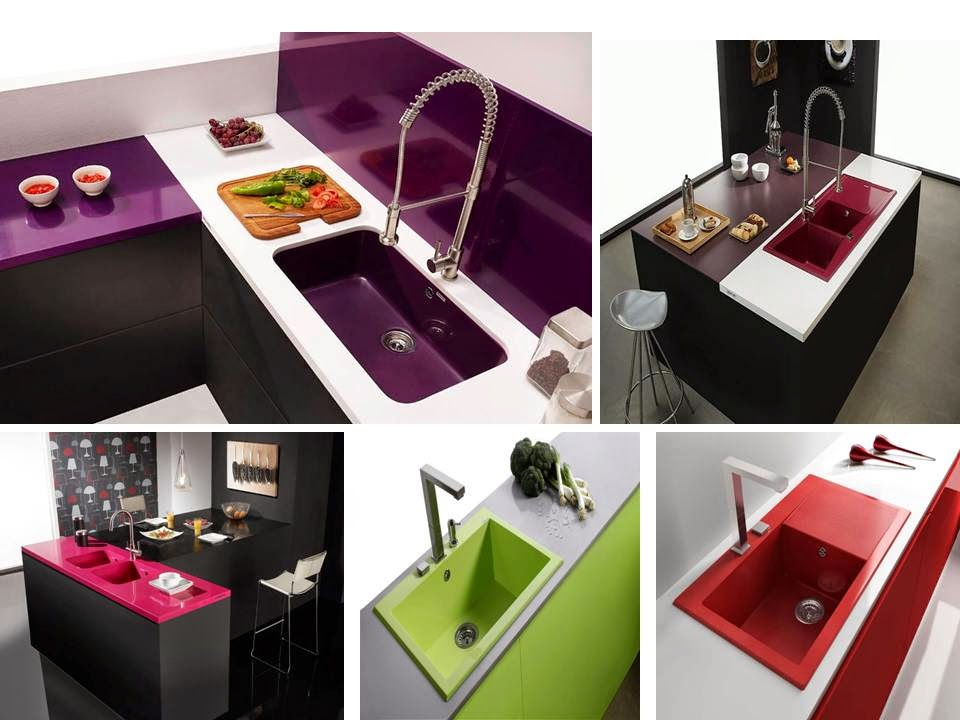colorful kitchen stainless steel sink