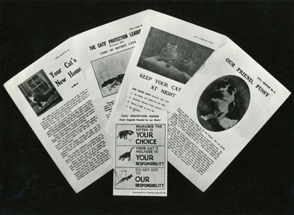 Cats Protection vintage 1960s advice leaflets