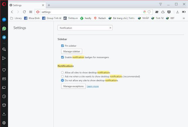 [Thủ thuật Windows] Cách tắt hoàn toàn bảng xin xỏ được hiển thị thông báo của trang web
