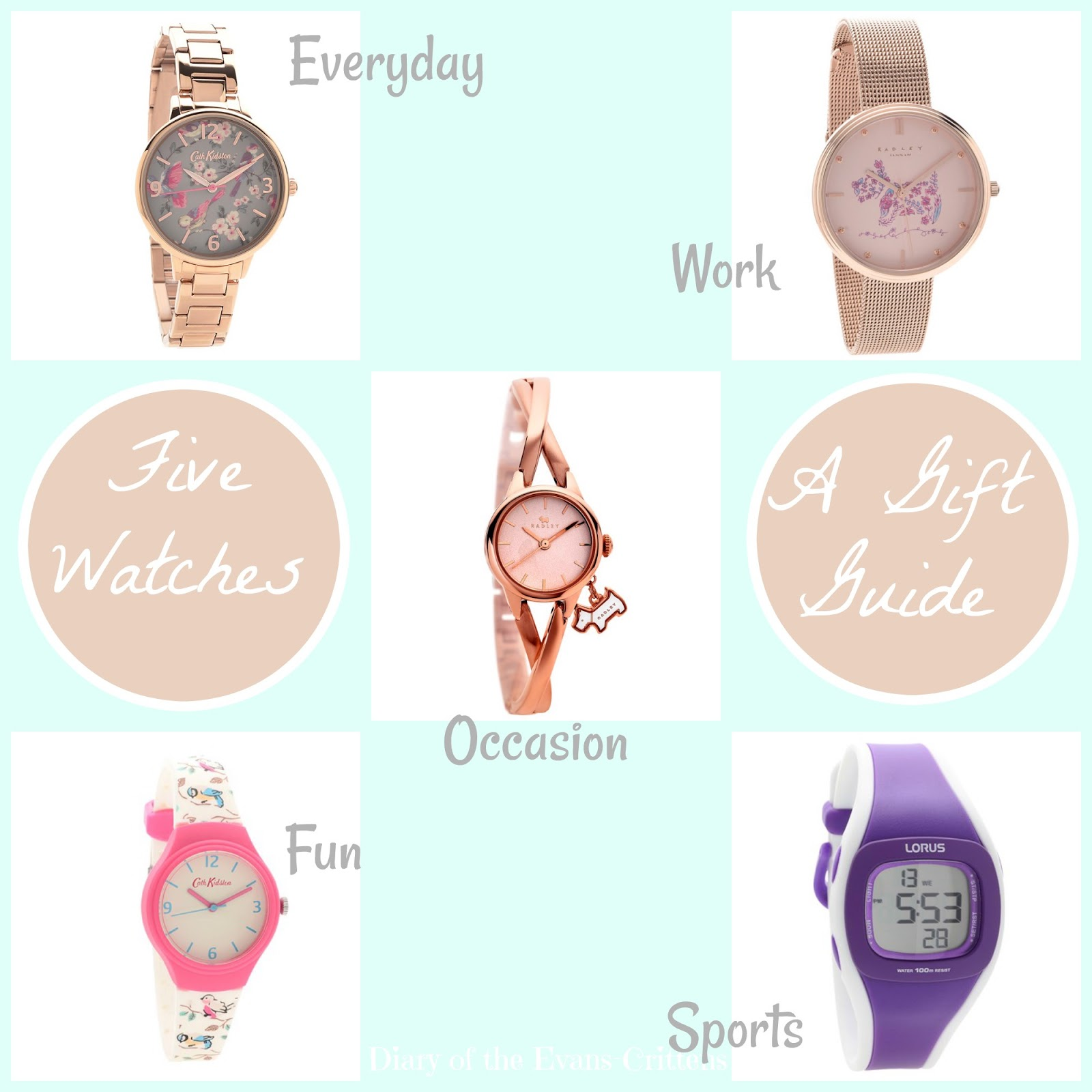 , Style:  Five Ladies Watches- a Gift Guide