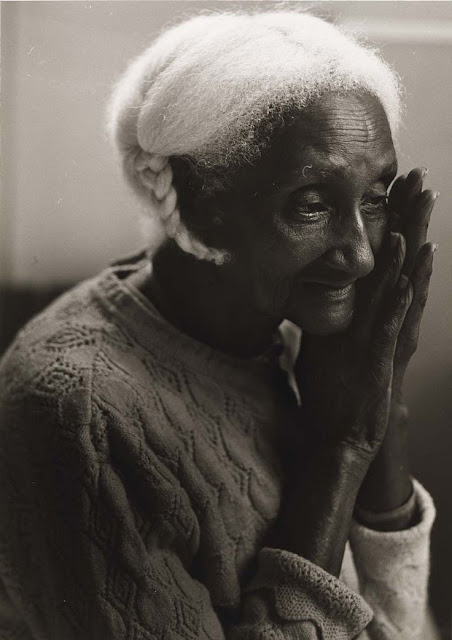Joan Cassis, Untitled (Elderly Afro-American Woman with Braid, Mary) 1986.jpg