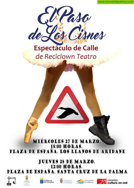 El Cabildo de La Palma celebra el Día Mundial del Teatro con 'El paso de los cisnes'