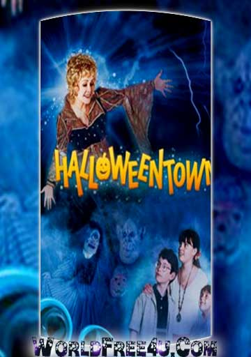 Poster Of Hollywood Film Halloweentown (1998) In 300MB Compressed Size PC Movie Free Download At worldfree4u.com