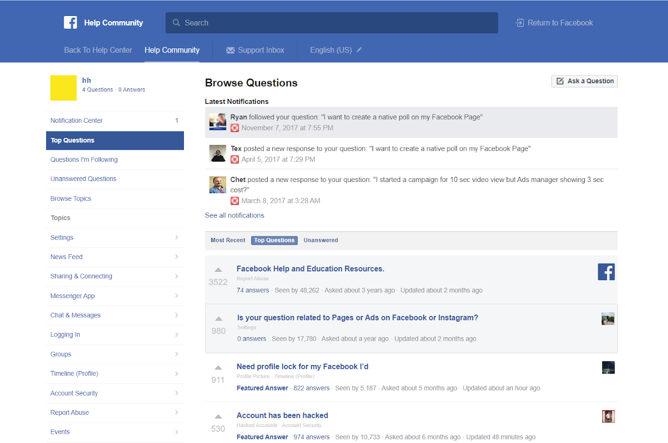 Facebook's Support Forum Is Full of Scammers Trying To Gamble With The Desperate Users & The Company Keeps Ignoring It!