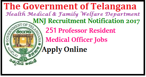 MNJ Recruitment 2017 Apply 251 Professor Resident Medical Officer Jobs MNJ Recruitment 2017 MNJ Institute of Oncology and Regional Cancer Center is inviting the applications for an Employment Notification. The Advertisement is for MNJ Recruitment 2017 of Various posts. The Telangana Government has issued an order about this recruitment. Those candidates who are waiting for the Government jobs notifications can use this opportunity. The Application commencement date publishes soon on the MNJ Institute of Oncology and Regional Cancer Center website. The MNJ Cancer Center Organization recruiting the Professor, Resident, Medical Officer and Other Vacancies by this MNJ Notification 2017. Interested Aspirants can apply for the Cancer Center posts through online mode. So, the candidates can check the details of the various jobs in the Regional Cancer Center, Hyderabad from the Official website./2017/07/mnj-recruitment-notification-2017-apply-251-professor-resident-medical-officer-jobs-health-medical-family-welfare-dept-apply-online-hall-tickets-initial-final-key-results-download-www.mnjiorcc.in..html