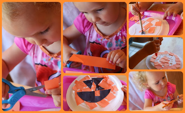 fine motor skills pumpkin craft