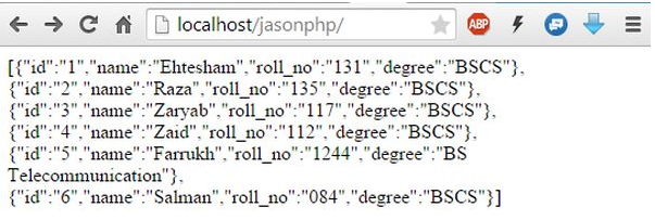 Export Mysql Data Into Json Format Using Php
