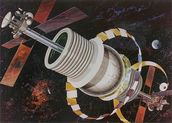 bernal sphere space colony space art