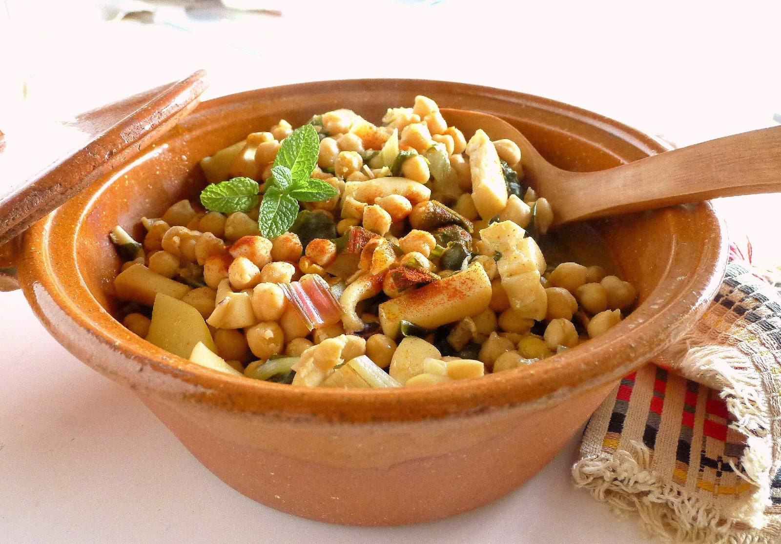 My kitchen in spain tweaking the traditional a traditional lenten stew with chunks of cuttlefish chickpeas chard and potatoes forumfinder Gallery