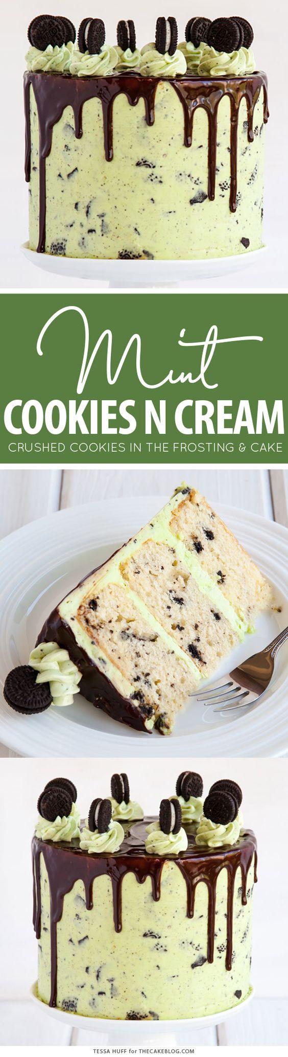 Mint Cookies and Cream Cake Recipe